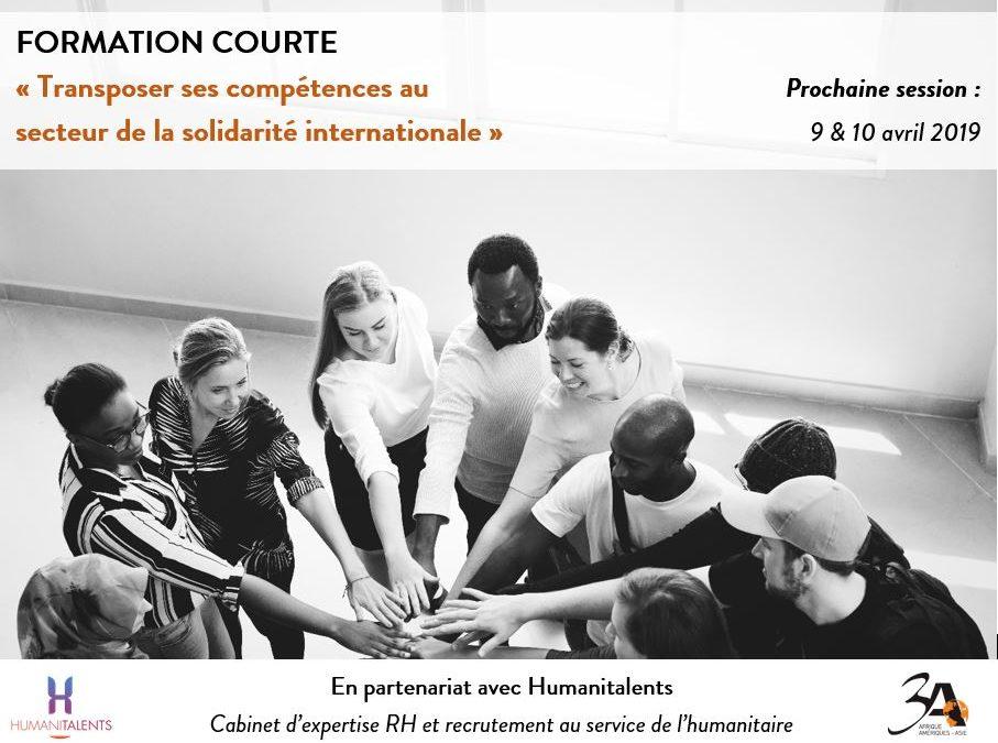 Formation «Transposer ses compétences au secteur de la solidarité internationale»