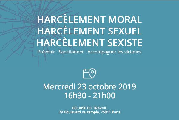 Grand Colloque sur le harcèlement moral, le harcèlement sexuel et les agissements sexistes